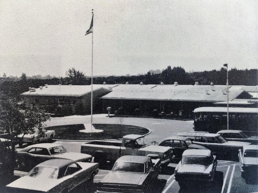 Twin Hills Middle School black and white photo 1971